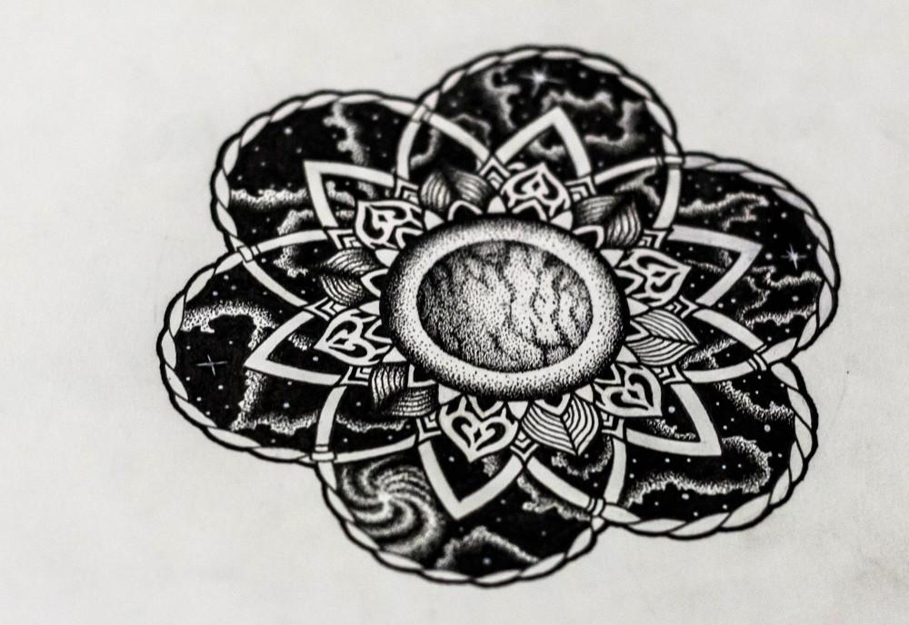 En tatoverings skisse Kim har designet foto: Sahil Singh