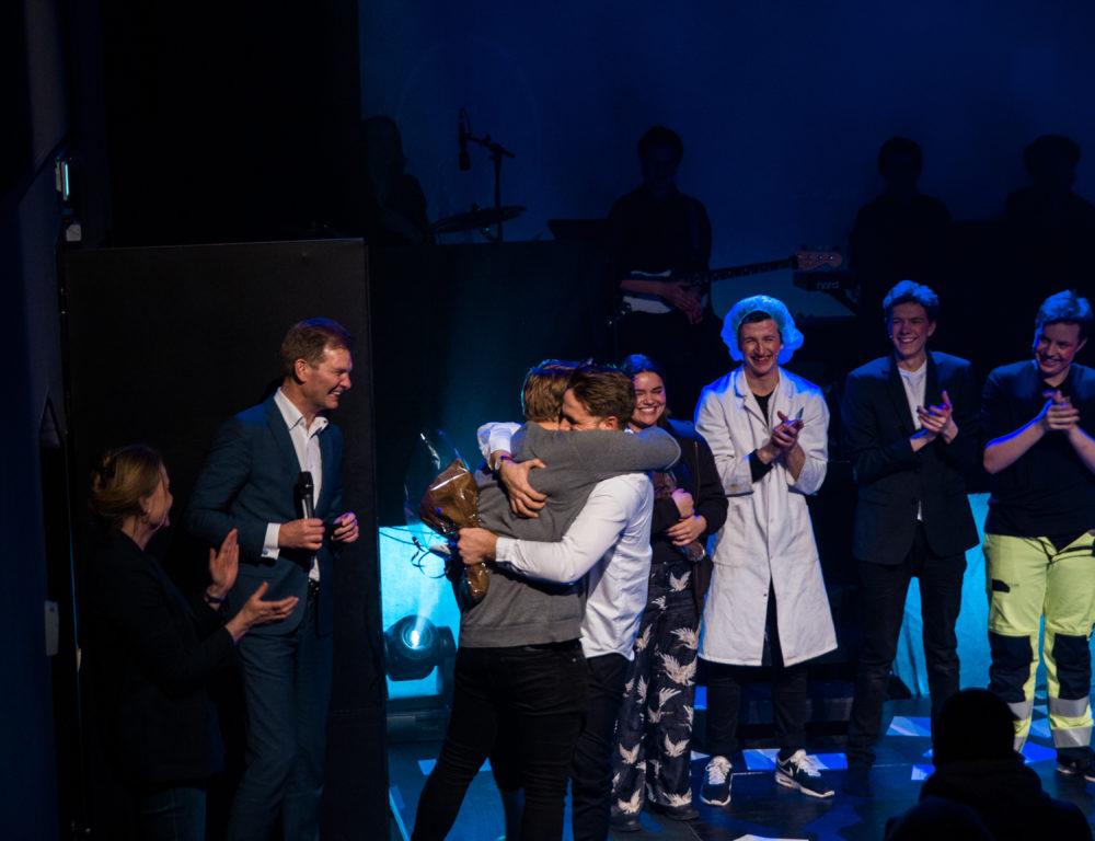 Tim og Einar på scenen